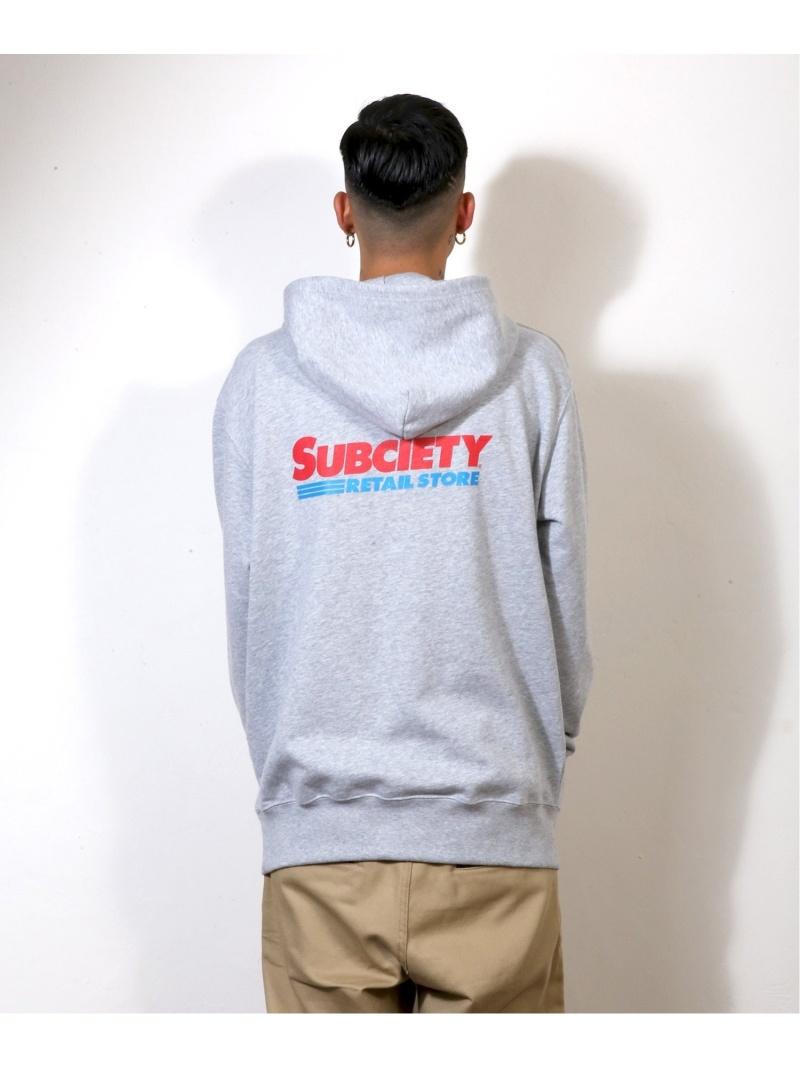 Subciety Subciety/(M)PARKA-MARKET- サブサエティ カットソー パーカー グレー ブラック ホワイト【送料無料】