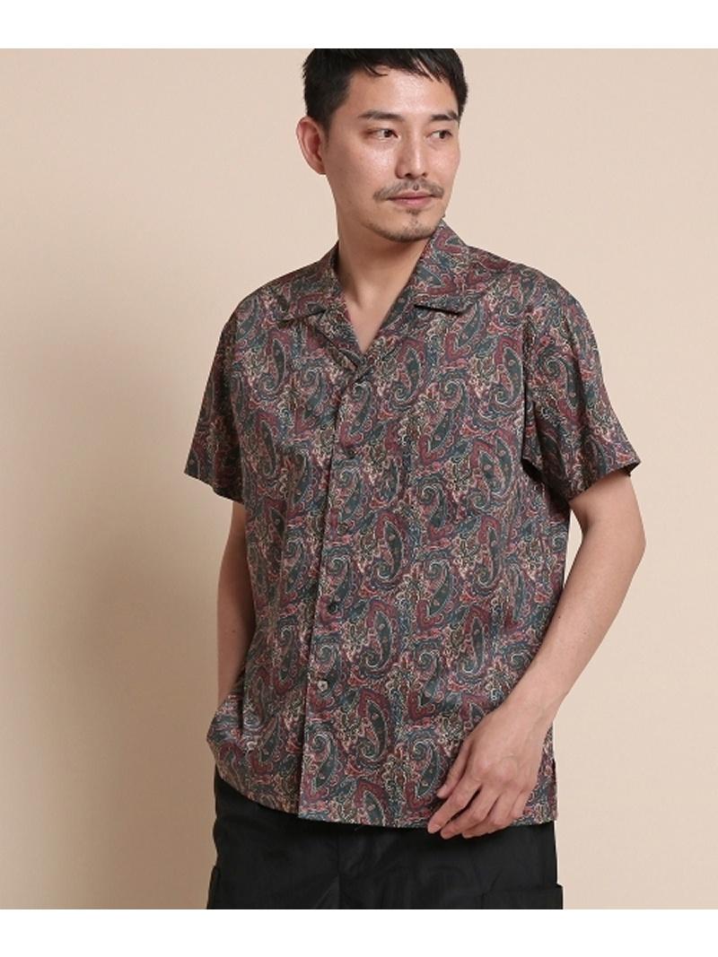 【SALE/50%OFF】40CARATS&525 ペイズリープリントシャツ [ メンズ シャツ 半袖 ] タケオキクチ シャツ/ブラウス【RBA_S】【RBA_E】【送料無料】