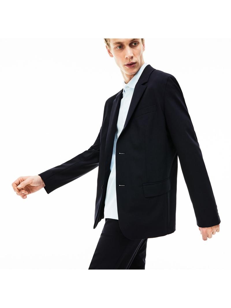 【SALE/50%OFF】LACOSTE ウールブレンドストレッチテーラードジャケット ラコステ コート/ジャケット テーラードジャケット【RBA_E】【送料無料】