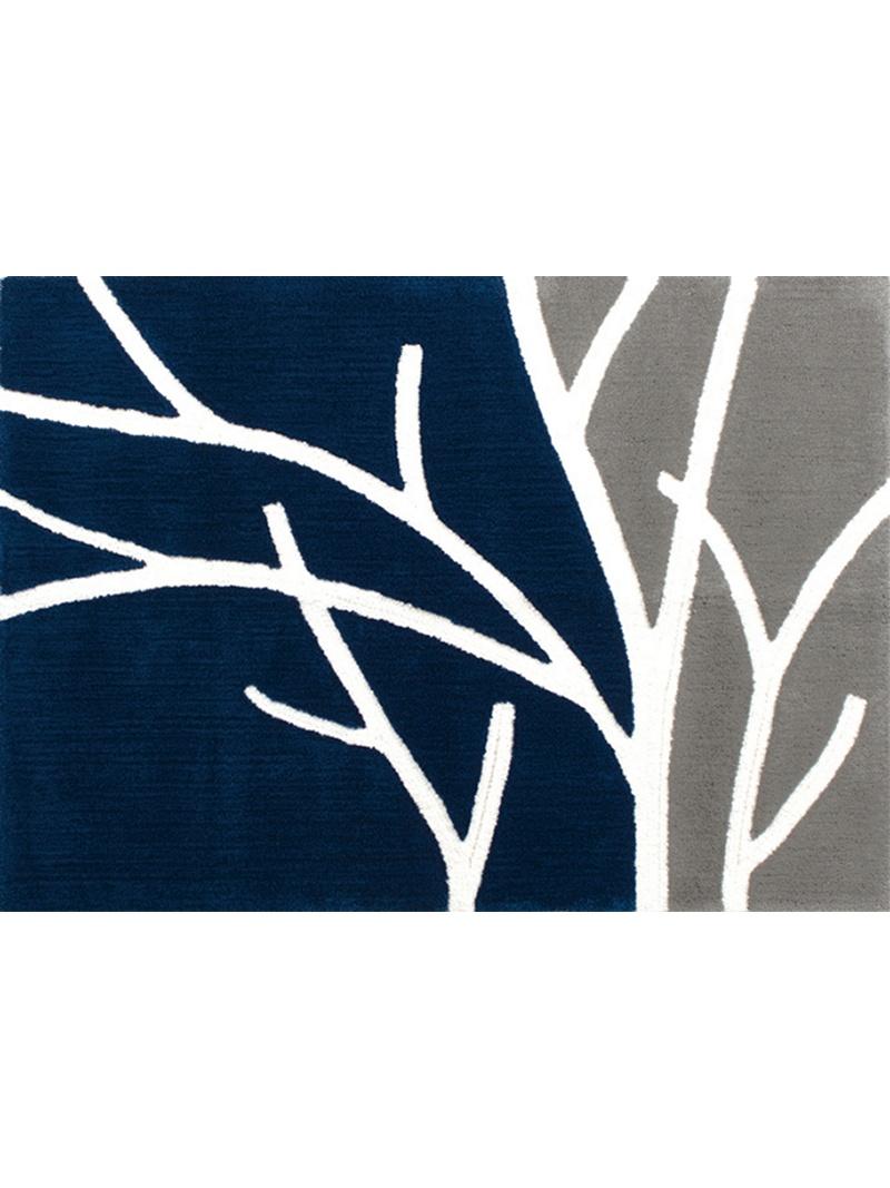 M+home M+home/ブランチ インテリアラグ 約100×140cm ブルー ビートゥーエル 生活雑貨【送料無料】
