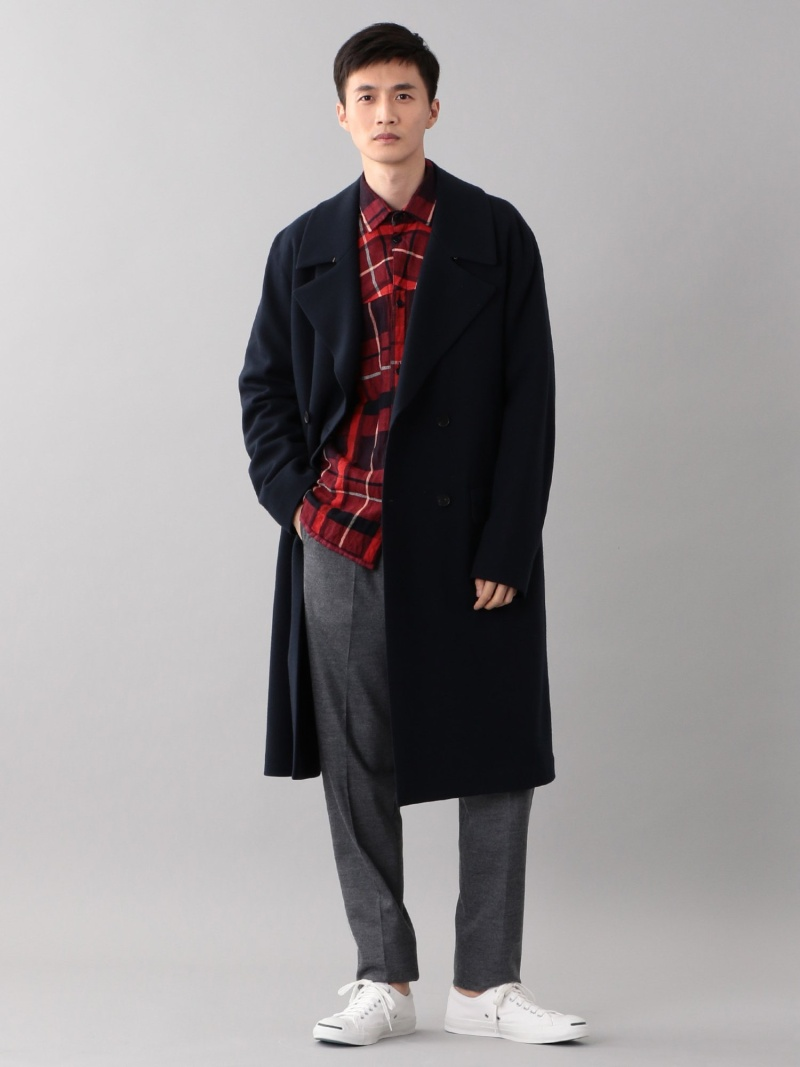 SANYO <BLUEFLAG+kiminori morishita>TPSウールナイロン ジャージーコート サンヨー コート/ジャケット【送料無料】
