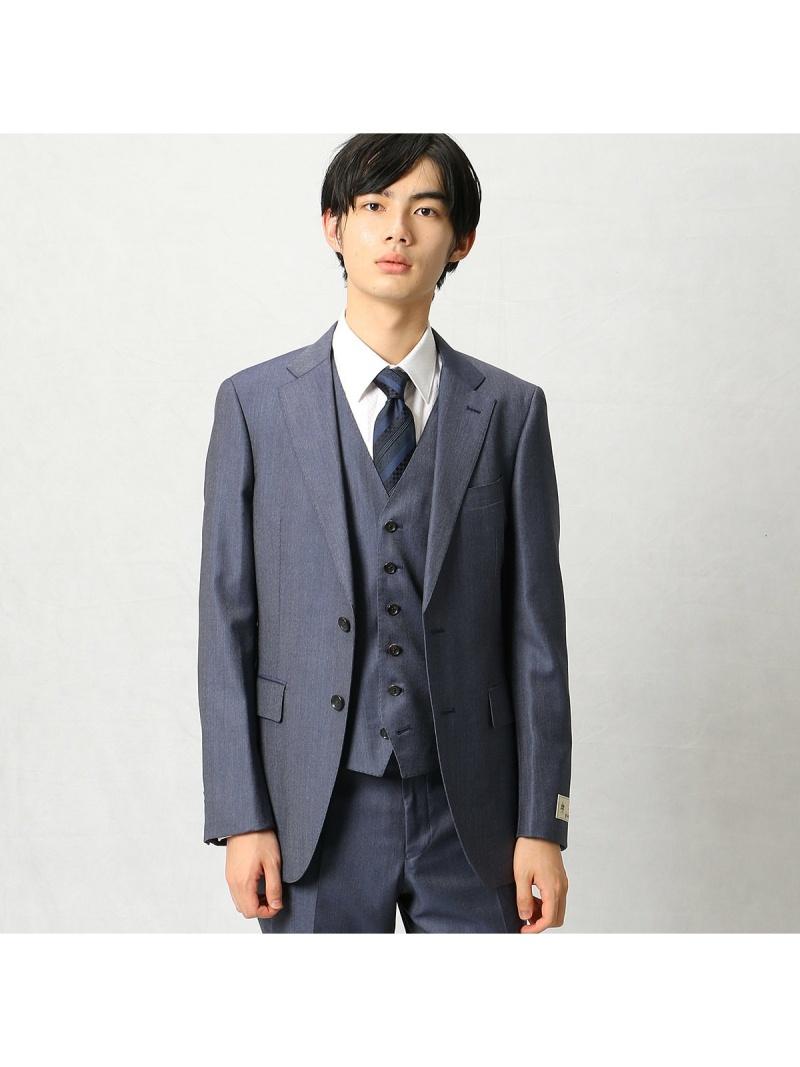 COMME CA MEN CERRUTI社ジェノバセットアップジャケット コムサメン ビジネス/フォーマル セットアップスーツ ネイビー【送料無料】