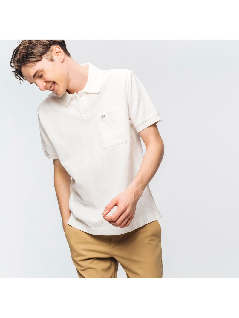 LACOSTE WASHIポロシャツ ラコステ カットソー ポロシャツ ホワイト ブラック ネイビー【送料無料】