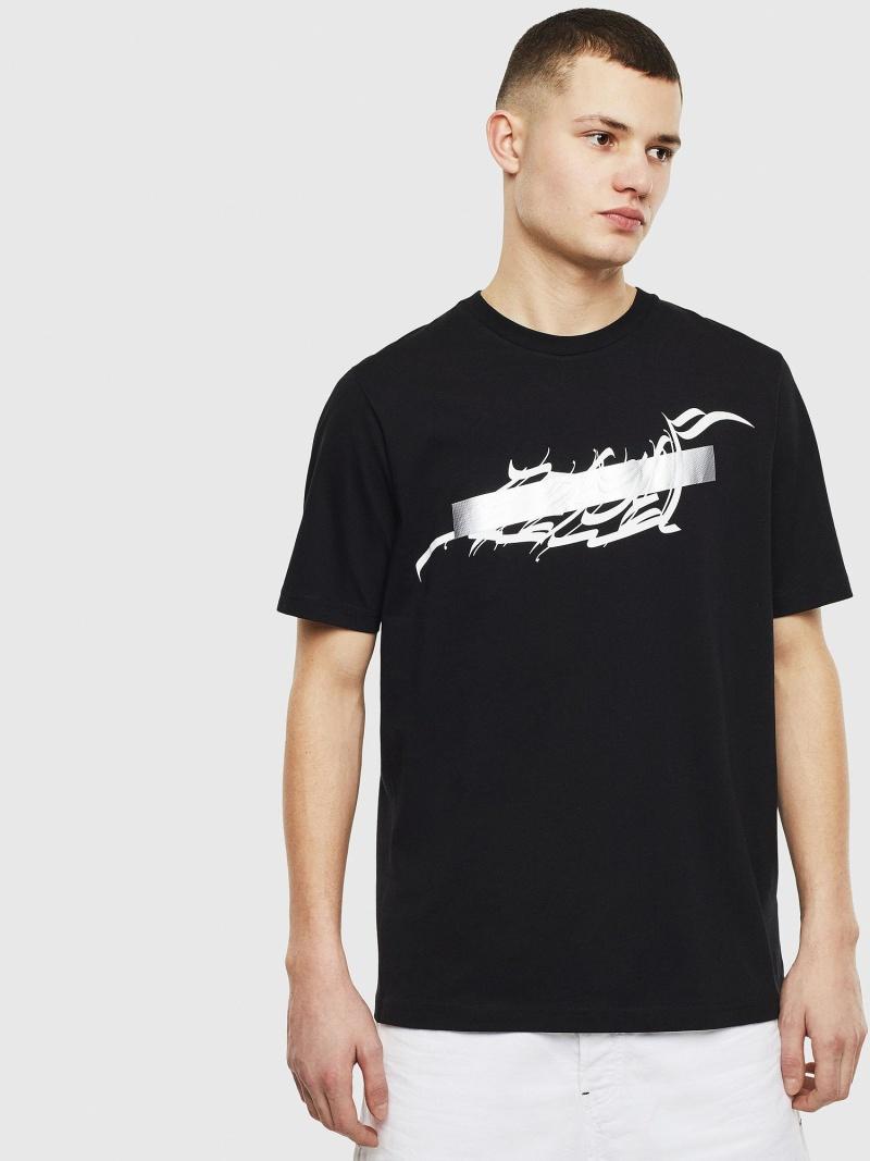 【SALE/40%OFF】DIESEL T-JUST-T11 ディーゼル カットソー Tシャツ ブラック【RBA_E】【送料無料】