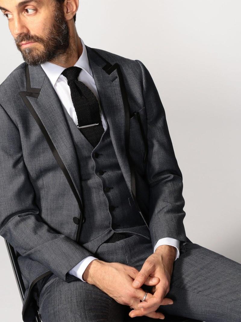 TOMORROWLAND MEN ウールデニム 1Bテーラードジャケット トゥモローランド コート/ジャケット テーラードジャケット【送料無料】