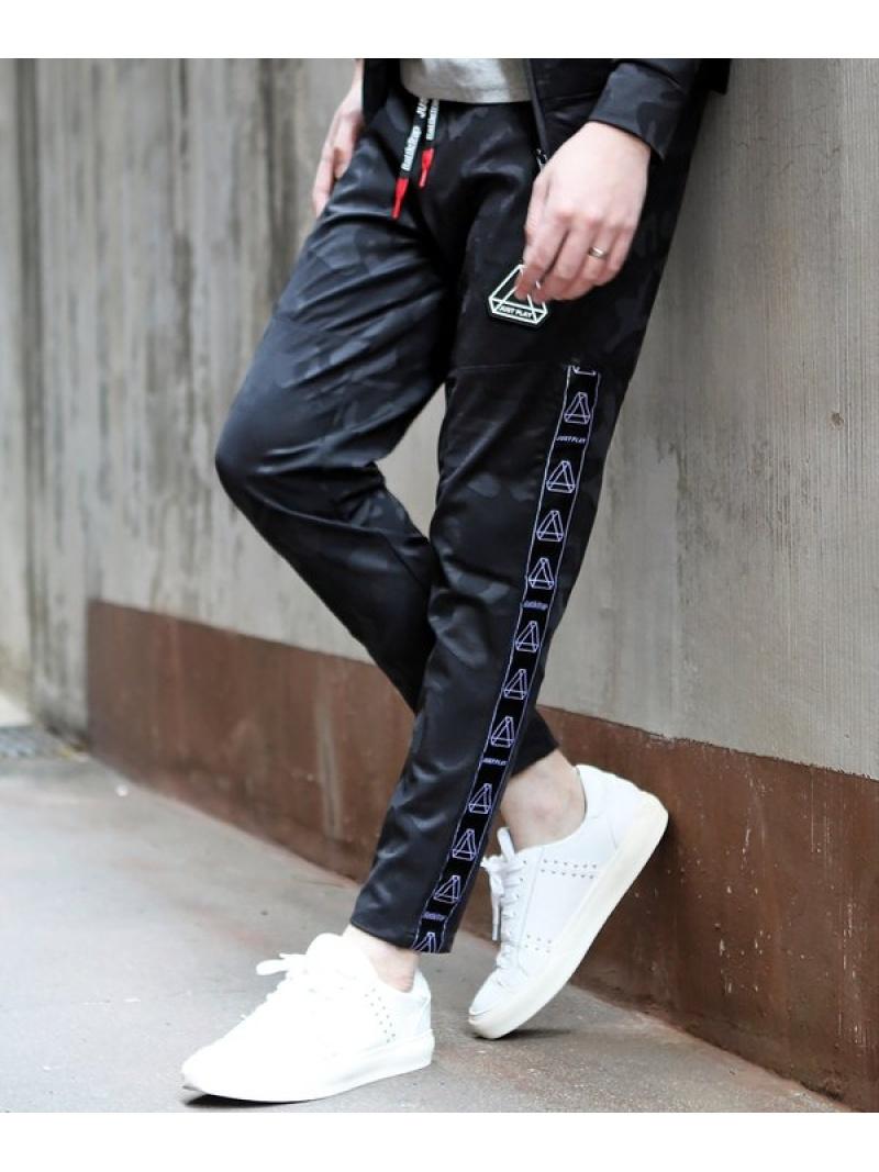 RATTLE TRAP JUSTPLAYカモフラージュスーパーストレッチジョガーパンツ メンズ ビギ パンツ/ジーンズ スウェットパンツ ブラック【送料無料】
