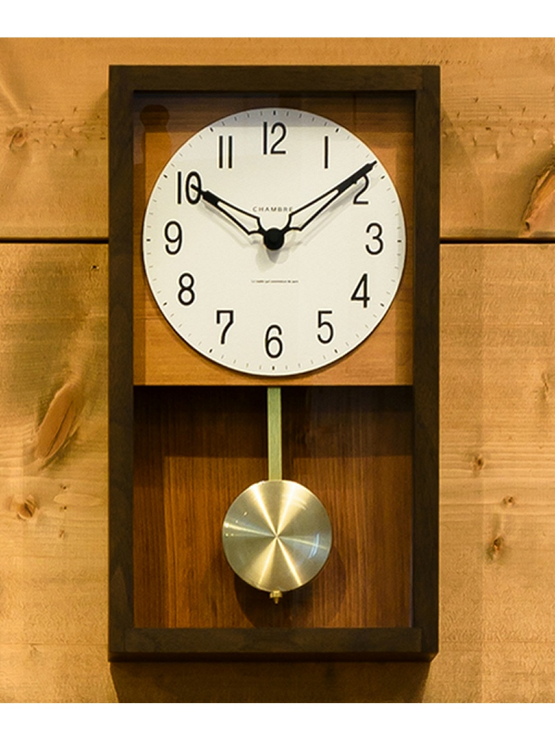 CHAMBRE CHAMBRE/HINOKI PENDULUM CLOCK CH-033CB*フリー ブラウン タイムレス コンフォート 生活雑貨【送料無料】