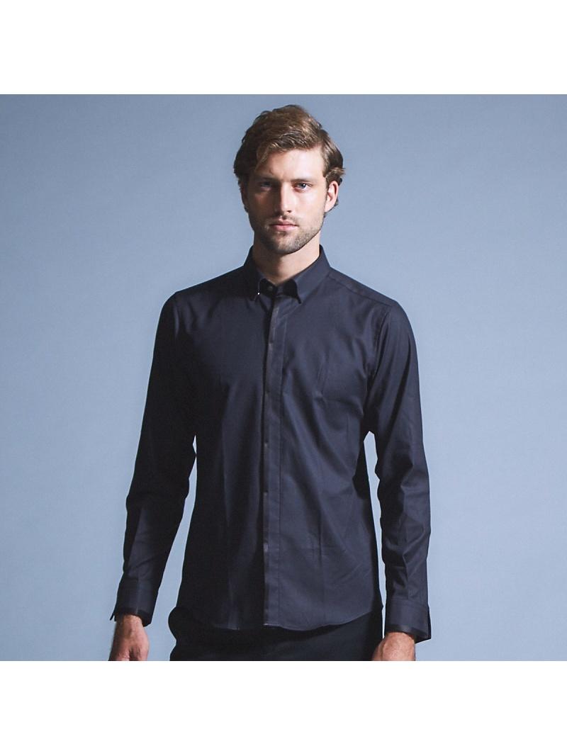 5351POUR LES HOMMES MONTIストレッチドレスシャツ ゴーサンゴーイチプールオム シャツ/ブラウス 長袖シャツ ブラック ホワイト【送料無料】