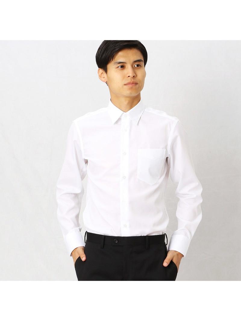 COMME CA MEN 形態安定ブロードドビードレスシャツ コムサメン シャツ/ブラウス【送料無料】