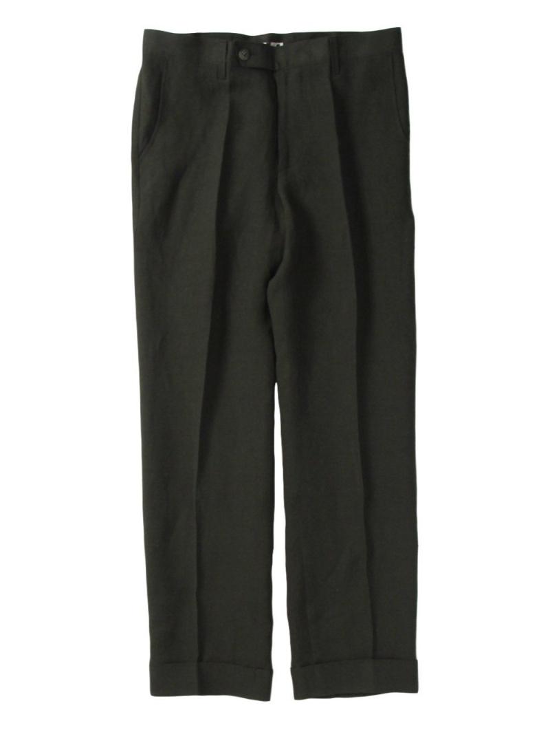KoH T OJO+ Straight Center Press Trousers シーナウトウキョウ パンツ/ジーンズ フルレングス カーキ【先行予約】*【送料無料】