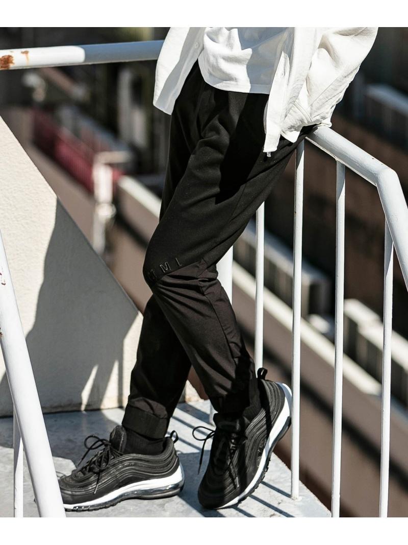 【SALE/25%OFF】hummel hummel/ストレッチカルゼコンビパンツ シフォン パンツ/ジーンズ スウェットパンツ ブラック【RBA_E】【送料無料】