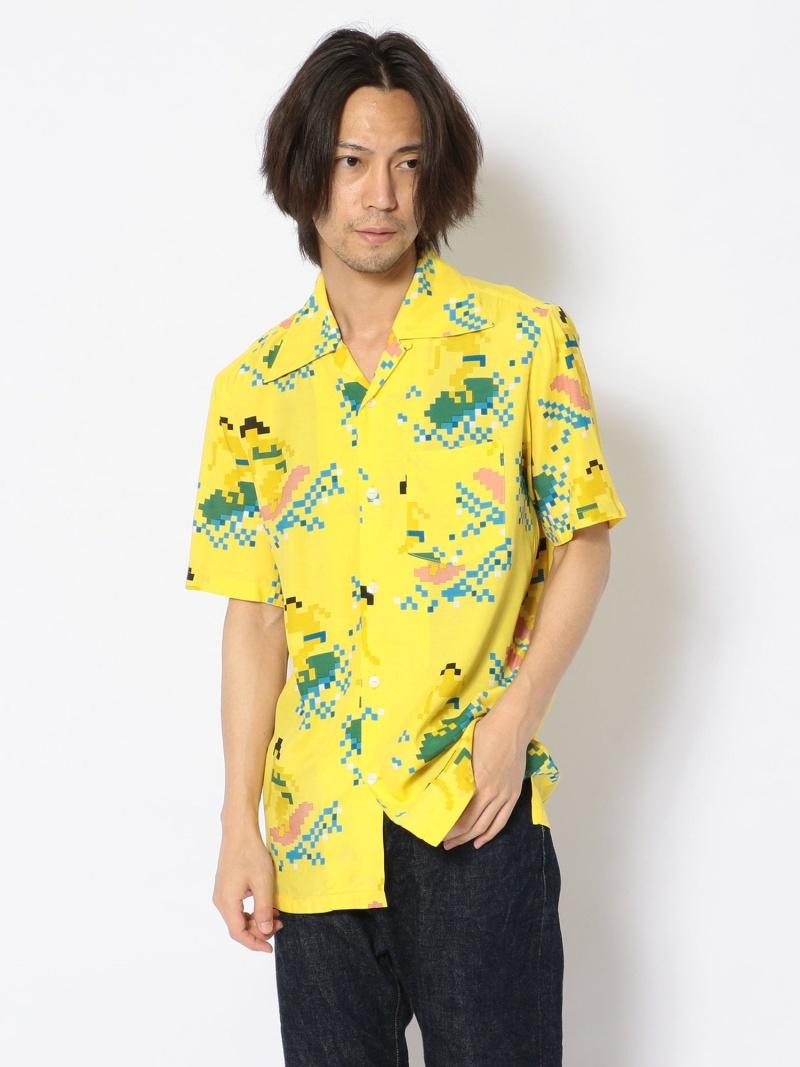 """RAWLIFE AlohaBlossom/アロハブロッサム/""""BITSURFER"""" ロウライフ シャツ/ブラウス 長袖シャツ イエロー【送料無料】"""