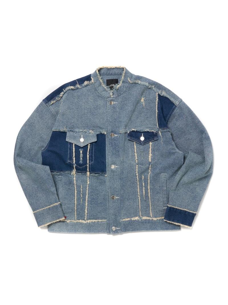 J.S.B. J.S.B./(M)Two Tone Denim Jacket バーチカルガレージ コート/ジャケット デニムジャケット ブルー【送料無料】