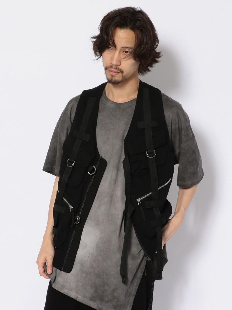 ROYAL FLASH KMRii/ケムリ/PARACHUTETERRYVEST ロイヤルフラッシュ コート/ジャケット ベスト ブラック【送料無料】