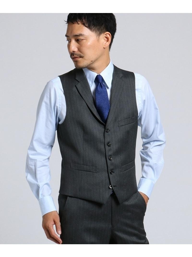 TAKEO KIKUCHI 【PNJ】紡縞 ベスト [ メンズ スーツ ] タケオキクチ コート/ジャケット【送料無料】