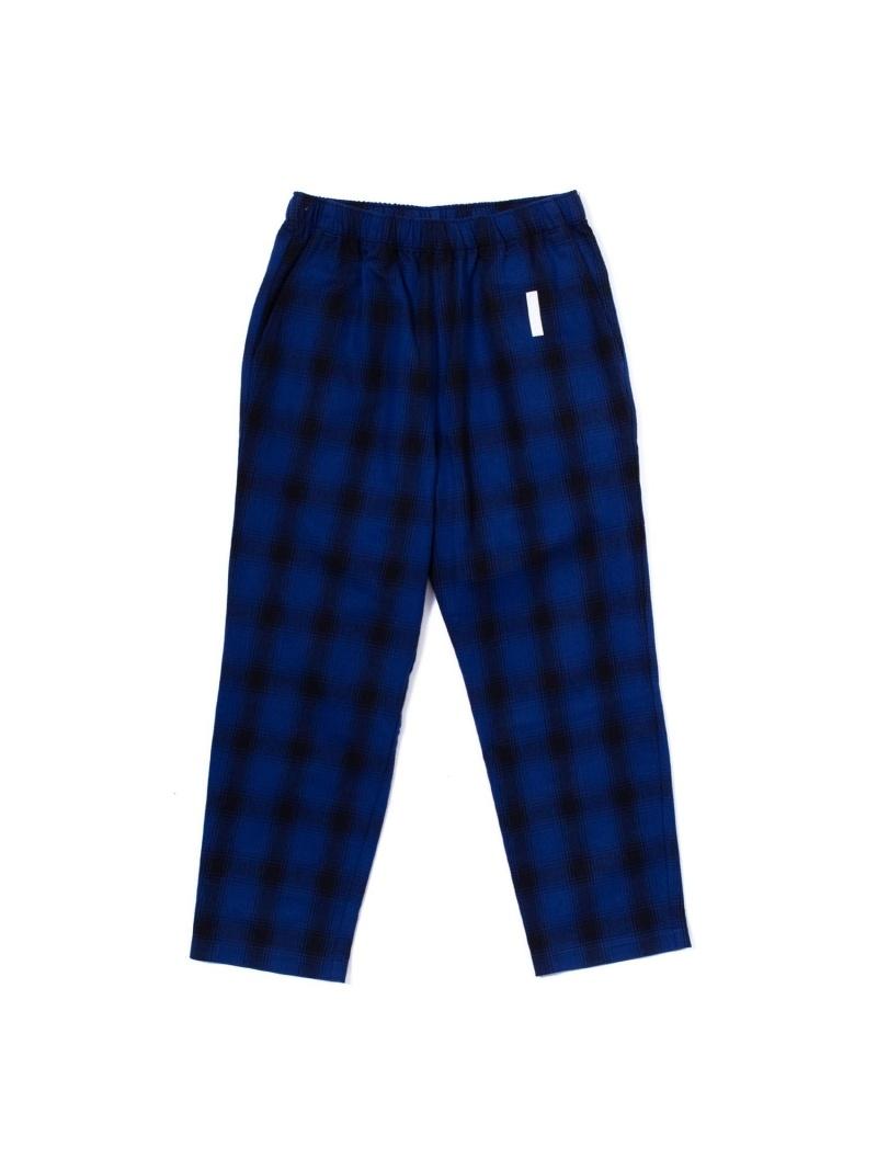 FULL-BK FULL-BK/(M)TOKYO CHECK PANTS バーチカルガレージ パンツ/ジーンズ フルレングス ブルー【送料無料】