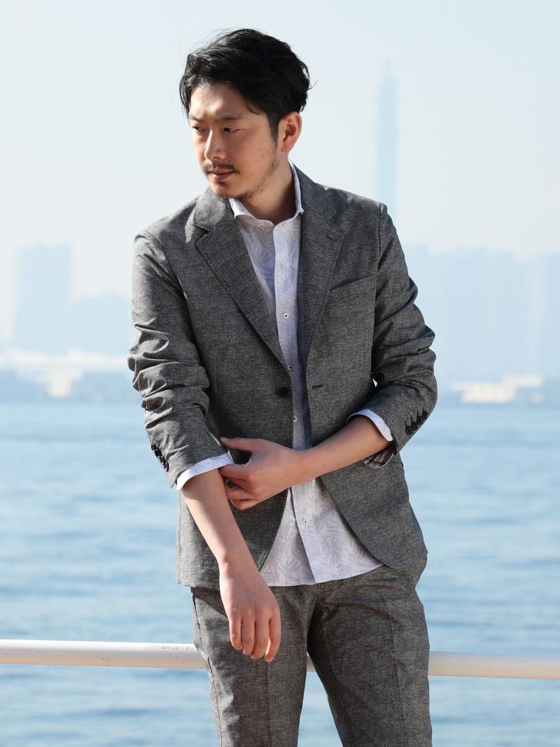MEN'S BIGI クールドッツ プリントジャケット(ストレッチ素材) メンズ ビギ コート/ジャケット【送料無料】