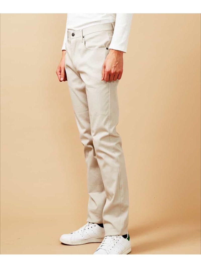 【SALE/20%OFF】MICHEL KLEIN HOMME パンツ(Duttiカルゼ) ミッシェルクランオム パンツ/ジーンズ フルレングス ベージュ カーキ ブラック【RBA_E】【送料無料】