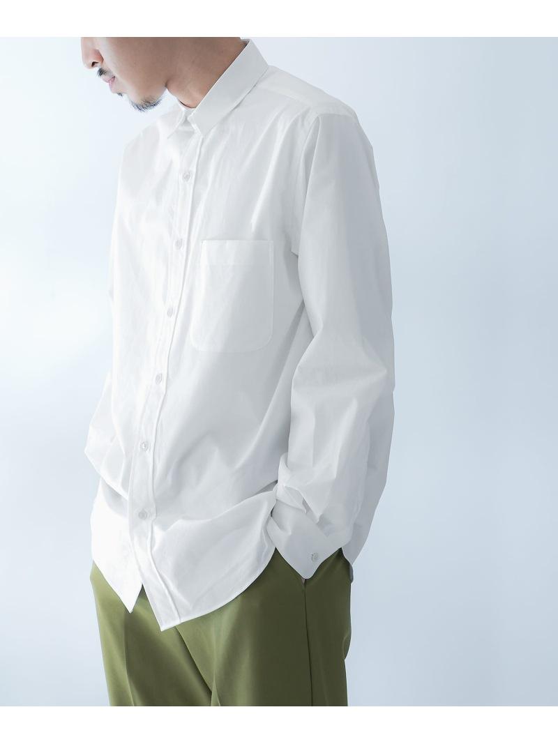 DOORS 高密度レギュラーカラーシャツ アーバンリサーチドアーズ シャツ/ブラウス シャツ/ブラウスその他 ホワイト ベージュ ピンク【送料無料】