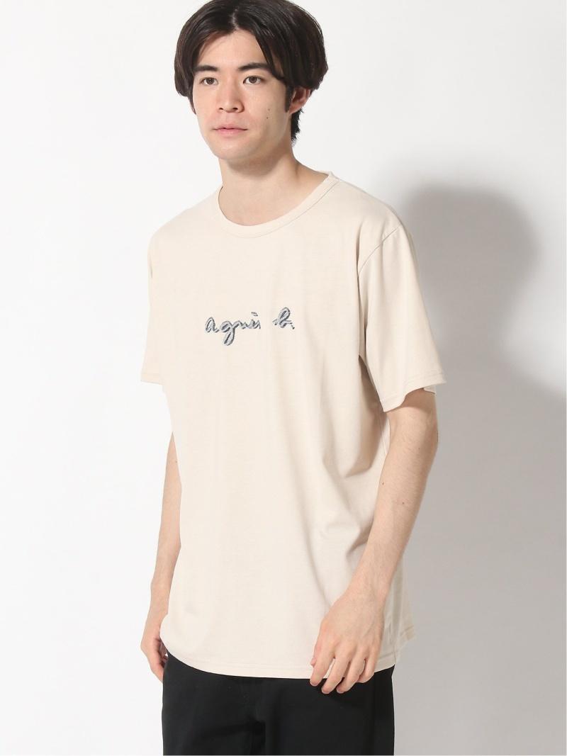 agnes b. HOMME agnes b. HOMME/(M)K315 ロゴTシャツ アニエスベー カットソー Tシャツ ベージュ ネイビー【送料無料】