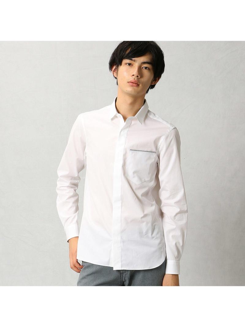 COMME CA MEN ホワイトブロードシャツ コムサメン シャツ/ブラウス【送料無料】