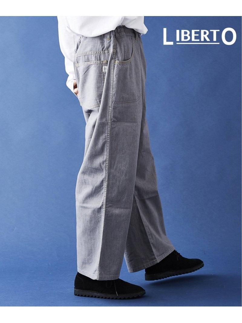 LIBERTO LIBERTO/デニム ワイド パンツ ジャーナル スタンダード パンツ/ジーンズ ワイド/バギーパンツ グレー ネイビー ブルー ホワイト【送料無料】