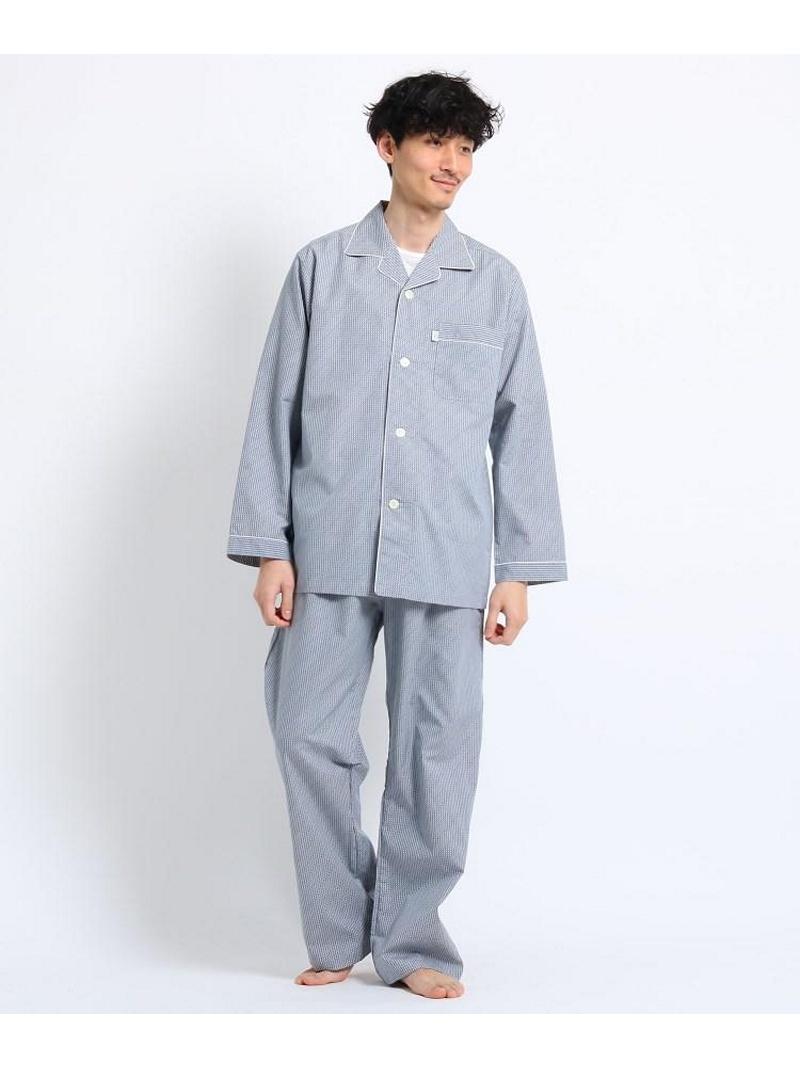 TAKEO KIKUCHI ロゴギンガムパジャマ タケオキクチ インナー/ナイトウェア【送料無料】
