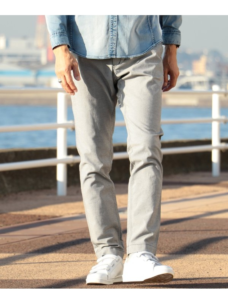 MEN'S BIGI ドビーストレッチ テーパードパンツ メンズ ビギ パンツ/ジーンズ【送料無料】