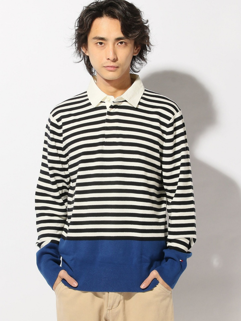 【SALE/40%OFF】TOMMY HILFIGER (M)KEVIN STP RUGBY CF トミーヒルフィガー カットソー【RBA_S】【RBA_E】【送料無料】