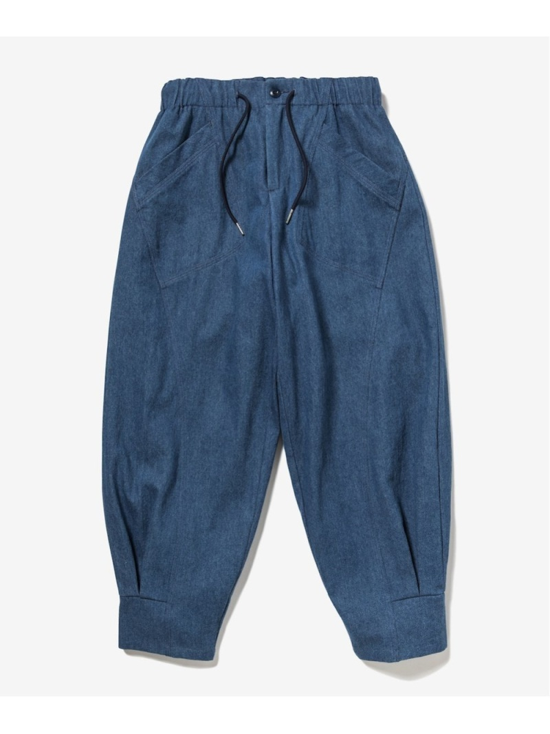 rehacer ユニセックス パンツ/ジーンズ レアセル  rehacer Shade Tuck Denim Pants レアセル パンツ/ジーンズ ジーンズその他 ブルー【先行予約】*【送料無料】