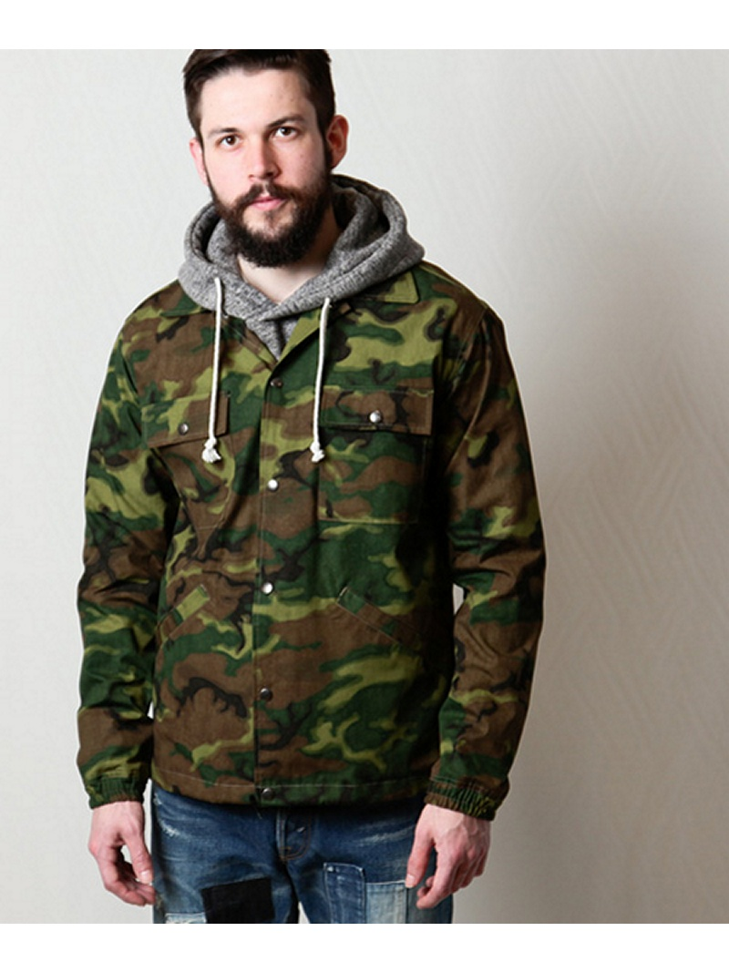【SALE/20%OFF】MR.OLIVE CAMOUFLAGE RIP-STOP CLOTH / ONE WASH COACH JACKET ミスターオリーブ コート/ジャケット【RBA_S】【RBA_E】【送料無料】