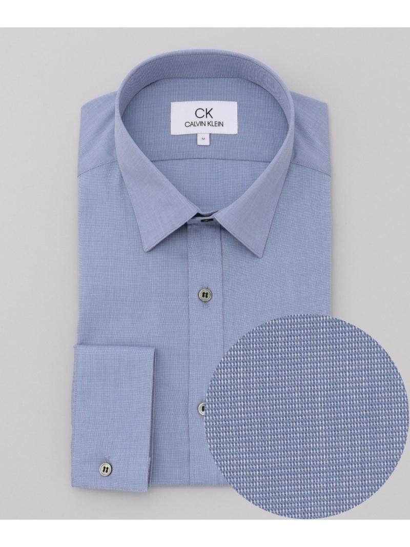 CK CALVIN KLEIN 【形態安定】リファインドポプリンシャツ/レギュラーカラー CK カルバン・クライン シャツ/ブラウス ワイシャツ ブルー ホワイト グレー ブラック【送料無料】
