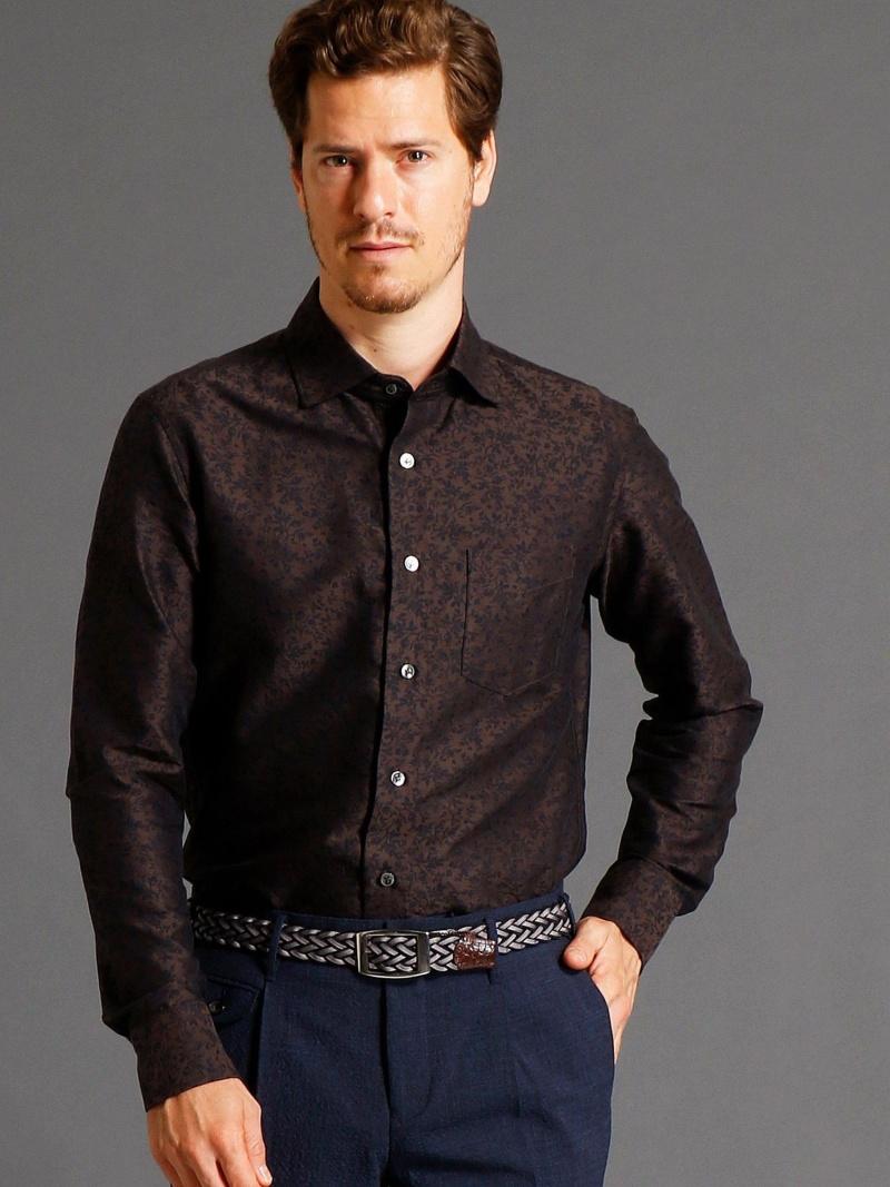 MONSIEUR NICOLE フラワージャカードシャツ ニコル シャツ/ブラウス【送料無料】