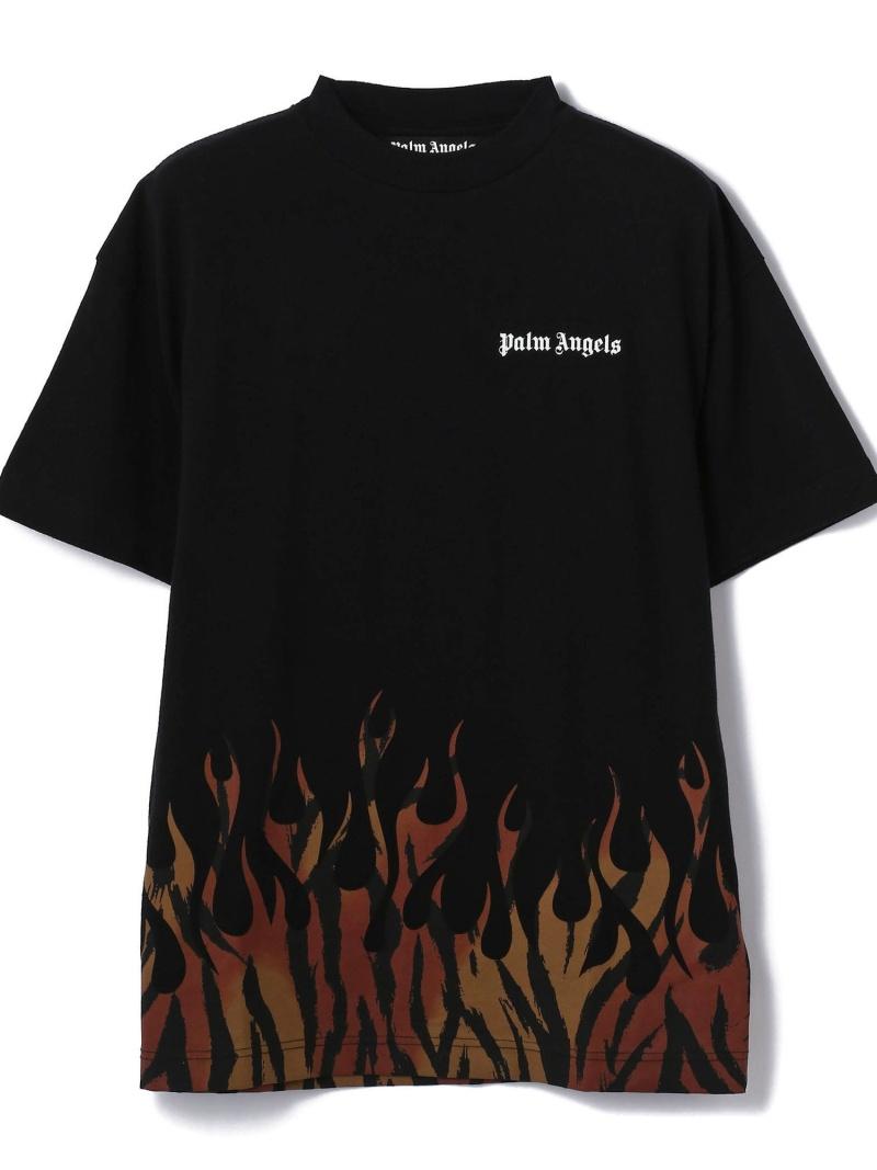 LHP PalmAngels/パームエンジェルス/TIGER FLAMES TEE エルエイチピー カットソー Tシャツ ブラック【送料無料】