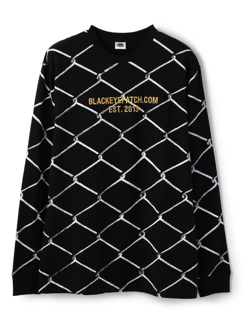 LHP BlackEyePatch/ブラックアイパッチ/FENCEDL/STEE エルエイチピー カットソー Tシャツ ブラック ホワイト【送料無料】