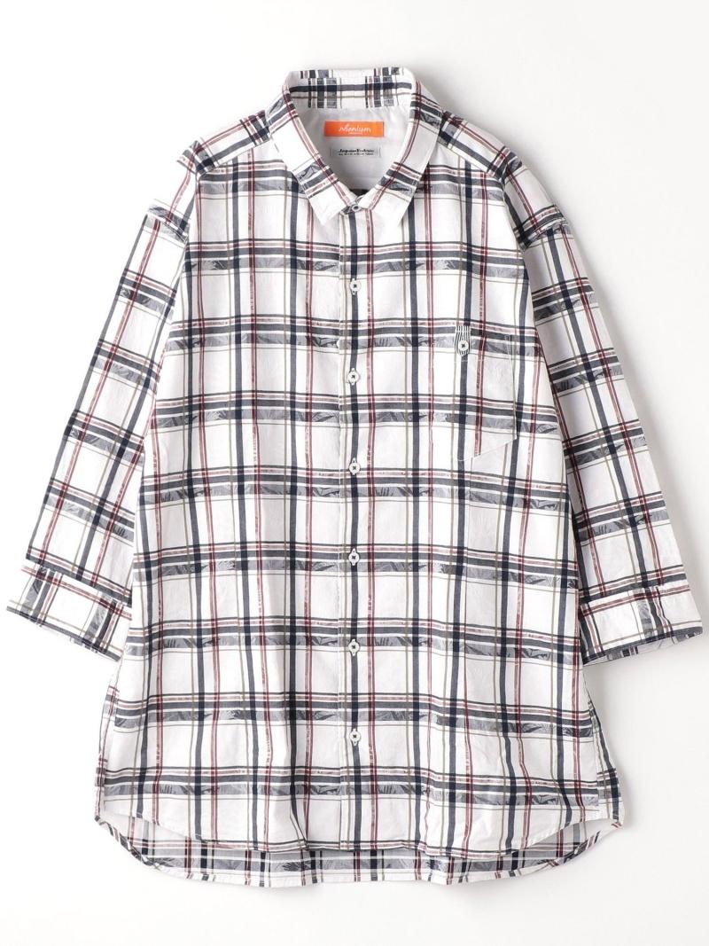 HIDEAWAYS(大きいサイズ) <大きいサイズ>ボタニカル柄七分袖シャツ ニコル シャツ/ブラウス 七分袖シャツ ホワイト ブルー ネイビー【送料無料】