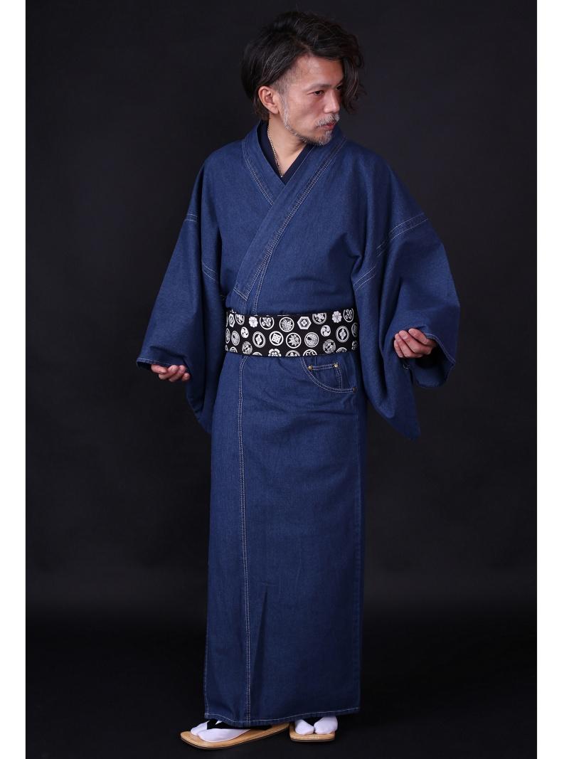 巡-MEGURU- 【巡-MEGURU-】メンズ デニム着物 ノーマル ポケット付 ワユウラク ビジネス/フォーマル 着物/浴衣 ブルー【送料無料】