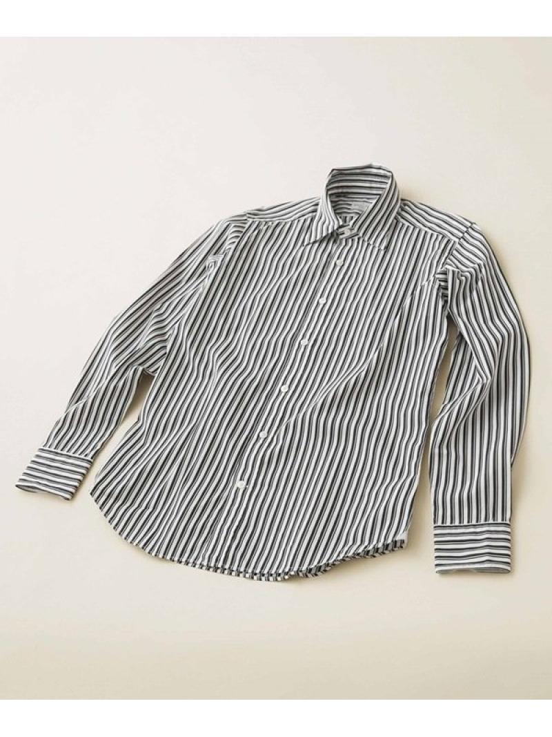 【SALE/50%OFF】BAGUTTA ストライプレギュラーカラーシャツ ナノユニバース シャツ/ブラウス シャツ/ブラウスその他 ブラック ホワイト【RBA_E】【送料無料】