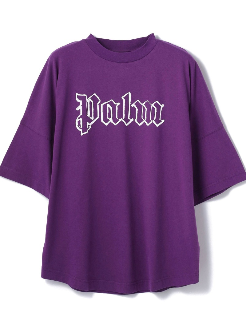 LHP PalmAngels/パームエンジェルス/BLANK LOGO OVER TEE エルエイチピー カットソー Tシャツ パープル【送料無料】