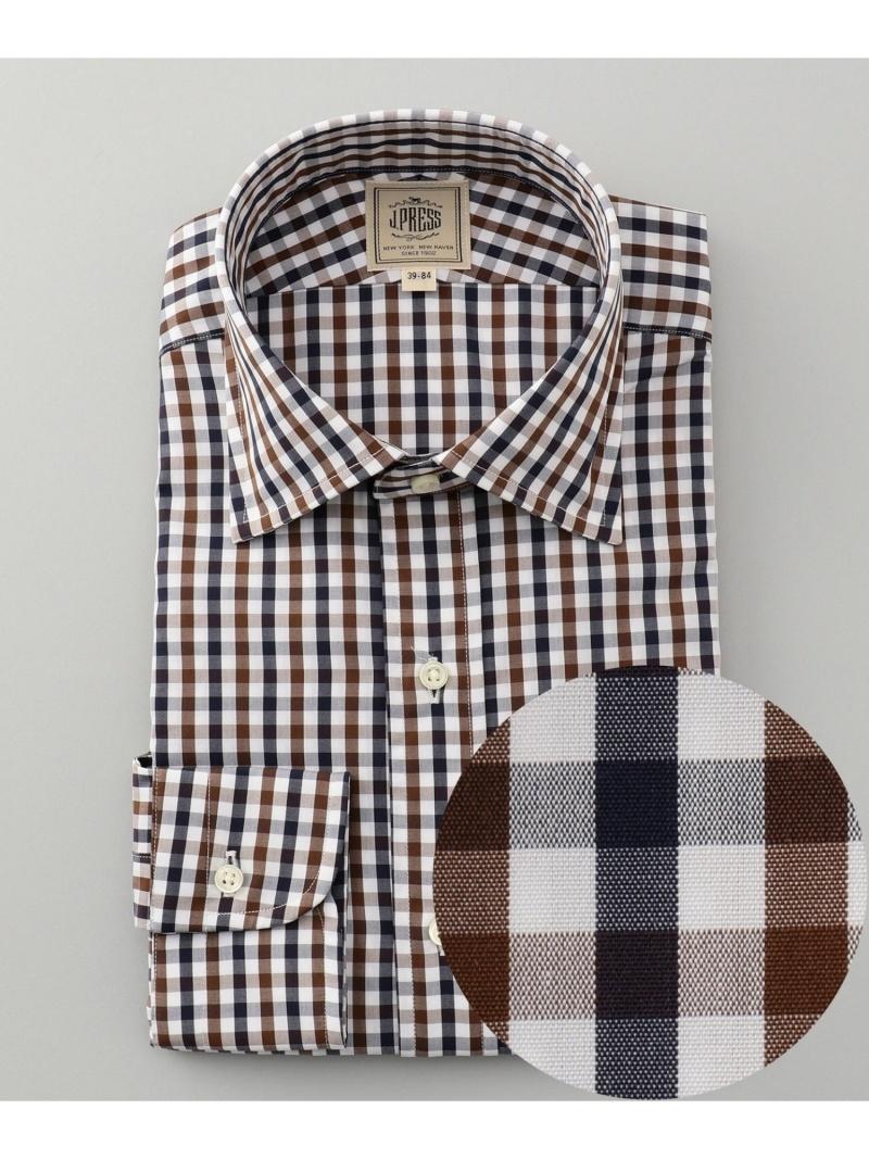 【SALE/20%OFF】J.PRESS MEN カラードブロックチェック ワイドカラーシャツ ジェイプレス シャツ/ブラウス【RBA_S】【RBA_E】【送料無料】