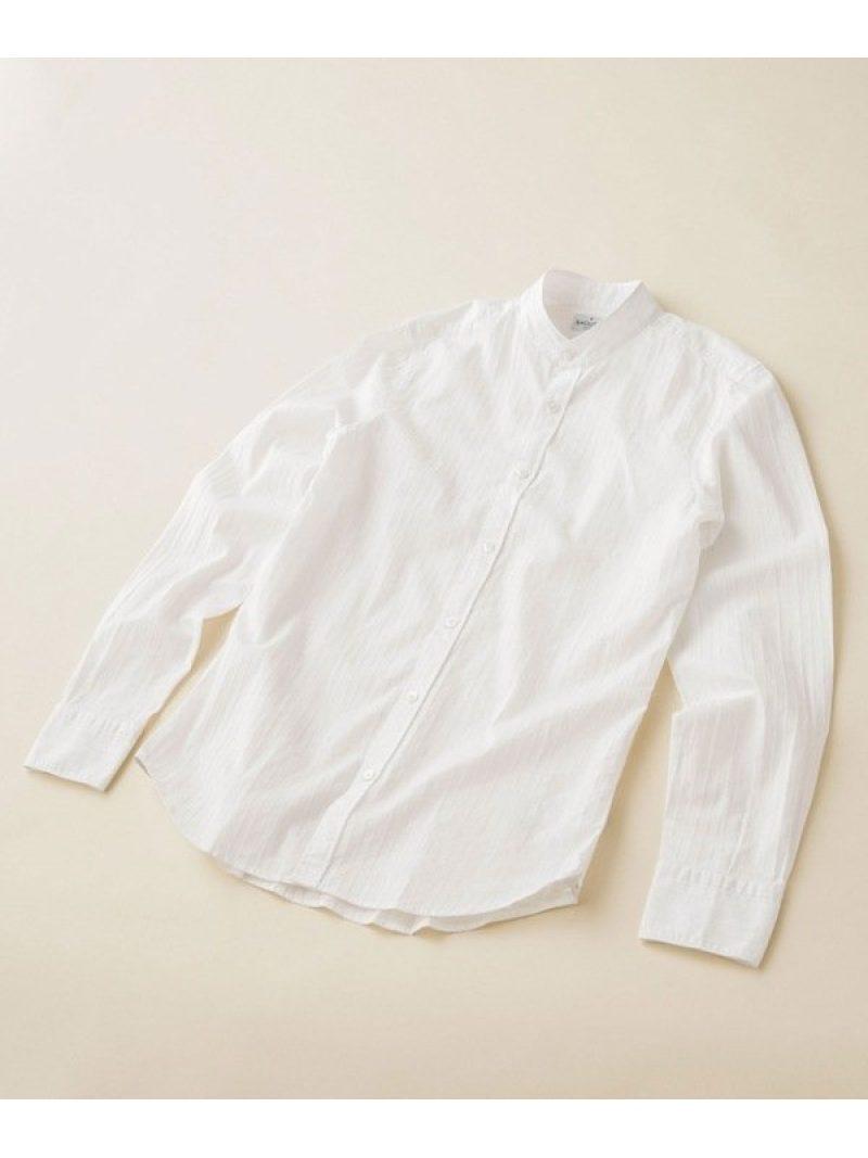 【SALE/20%OFF】BAGUTTA バンドカラーシャツ ナノユニバース シャツ/ブラウス シャツ/ブラウスその他 ホワイト【RBA_E】【送料無料】
