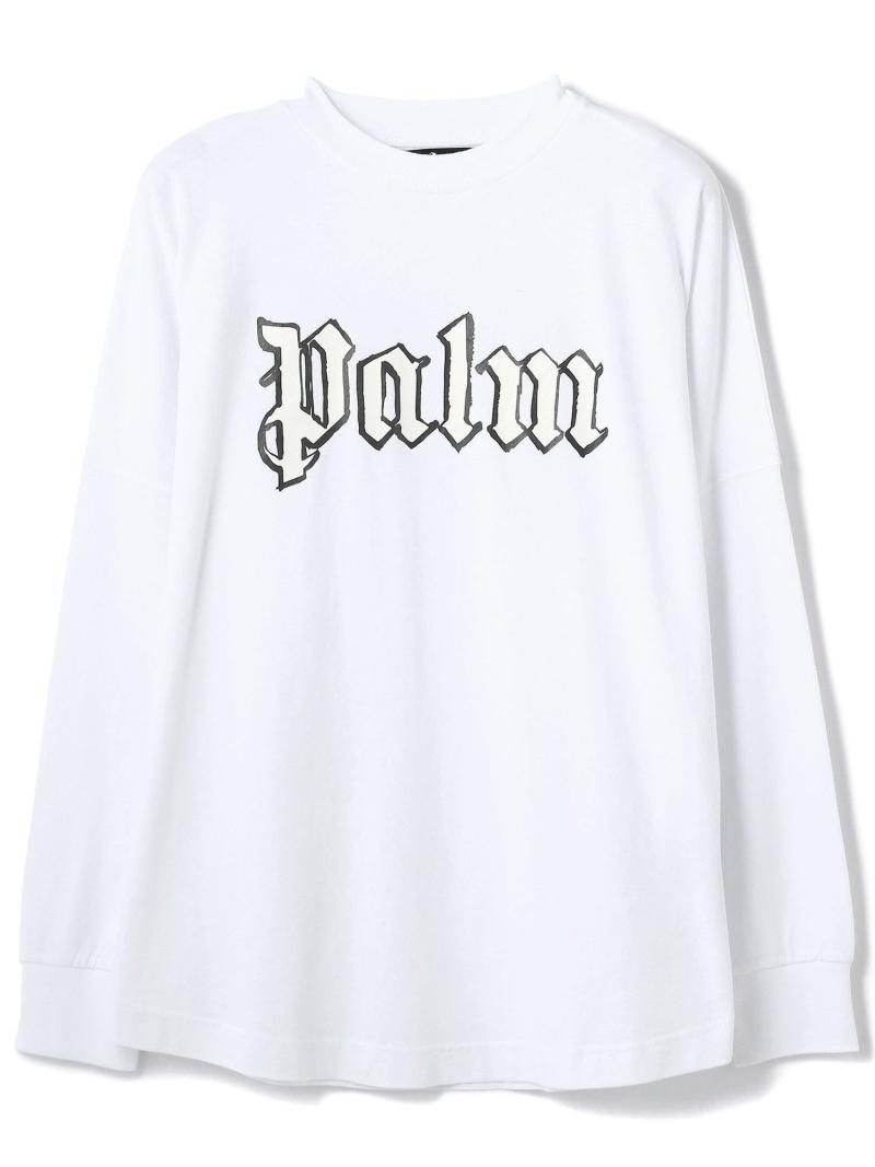 LHP PalmAngels/パームエンジェルス/BLANK LOGO OVER L/S TEE エルエイチピー カットソー Tシャツ ホワイト【送料無料】