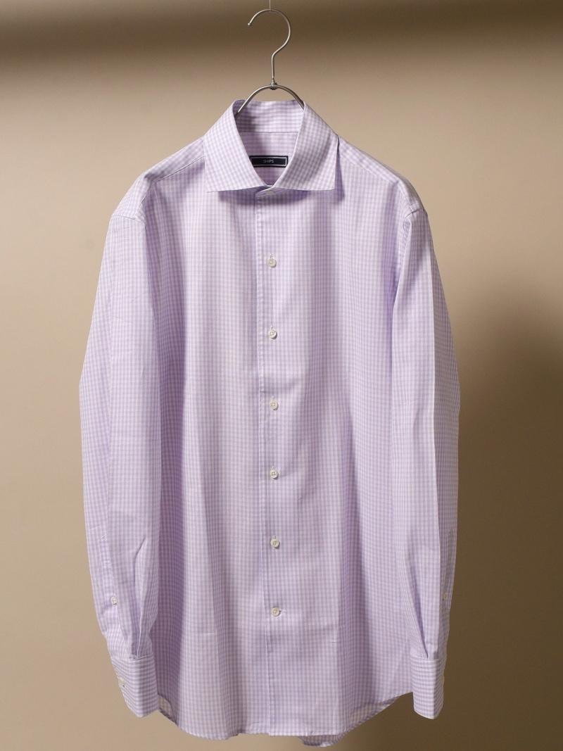 SHIPS SD:アイスコットンカラミワンピースカラーシャツ シップス シャツ/ブラウス 長袖シャツ【送料無料】
