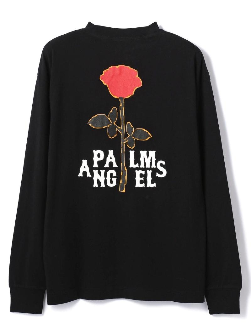 LHP PalmAngels/パームエンジェルス/SMALL ROSE L/S TEE エルエイチピー カットソー Tシャツ ブラック【送料無料】