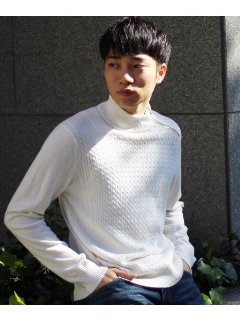 MEN'S BIGI 高橋克典さん着用 ケーブル柄タートルネック メンズ ビギ ニット【送料無料】