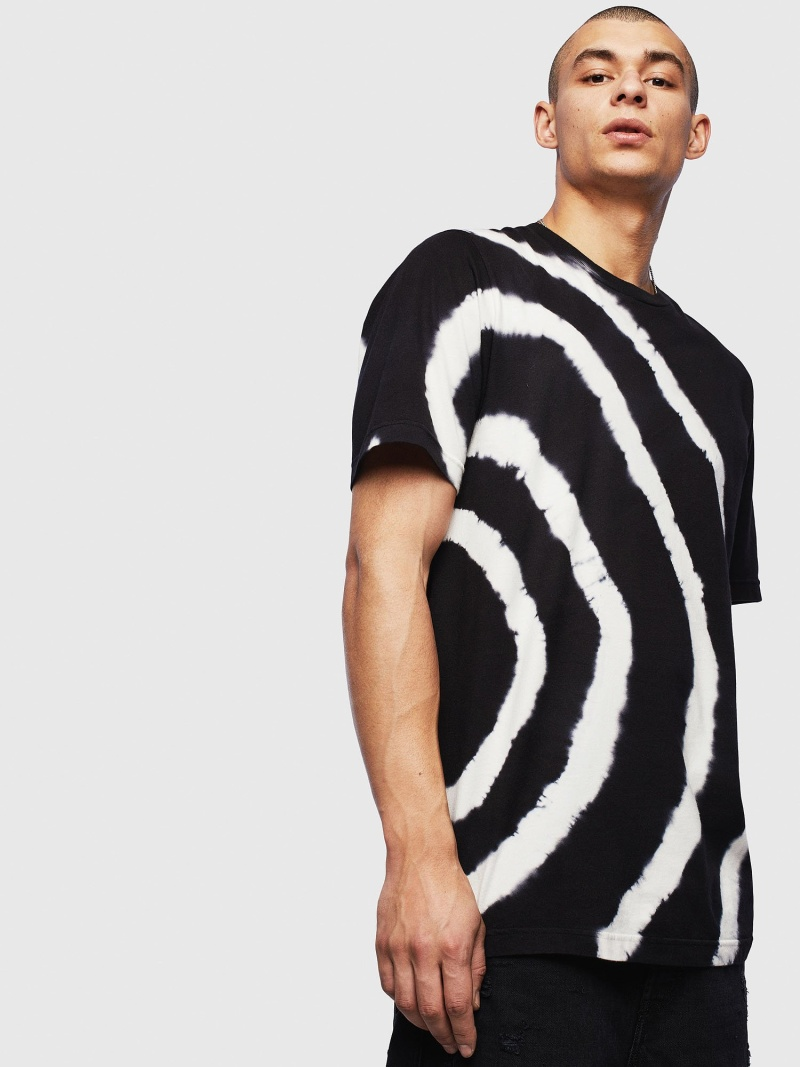 【SALE/40%OFF】DIESEL T-JUST-T16 ディーゼル カットソー Tシャツ ブラック【RBA_E】【送料無料】