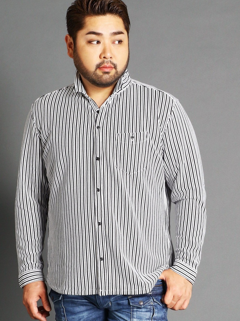 HIDEAWAYS(大きいサイズ) <大きいサイズ>イタリアンカラー長袖カットシャツ ニコル シャツ/ブラウス【送料無料】, 数量は多い :d4c5c69b --- officewill.xsrv.jp