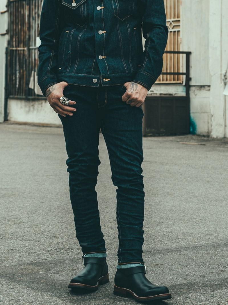 CRIMIE BORN FREE SLIM SELVAGE STRETCH DENIM 6P PANTS ガーデン パンツ/ジーンズ【送料無料】