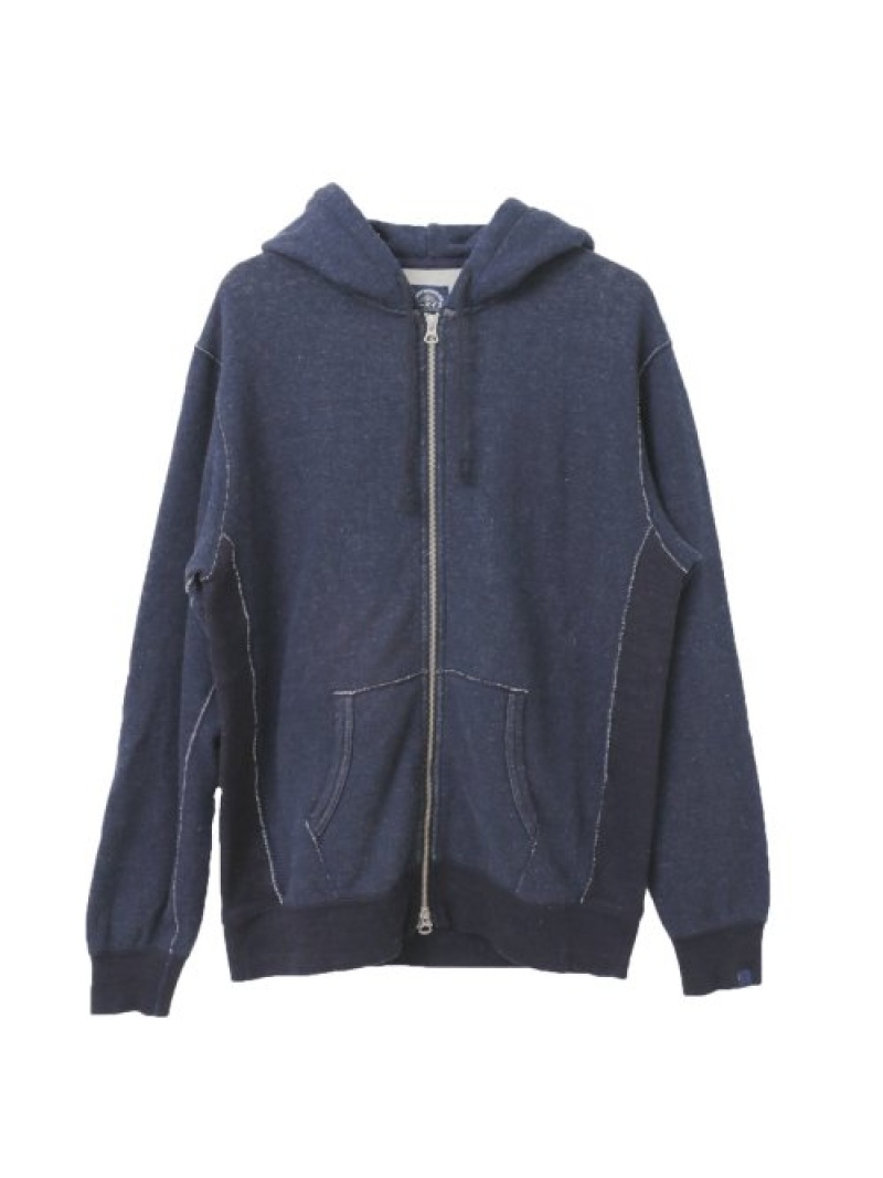 【SALE/50%OFF】URBAN RESEARCH Made&CraftedLevi'sZIPUPHOODIELOOPWHEELER アーバンリサーチ カットソー パーカー ブルー【RBA_E】【送料無料】