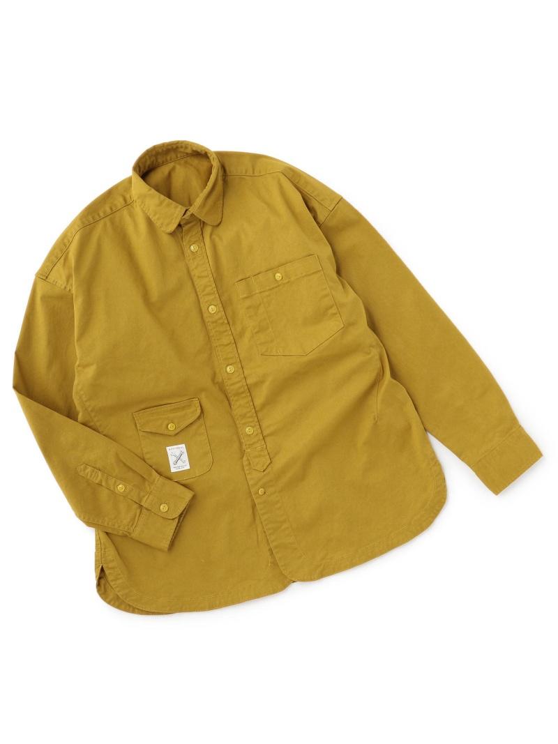 ADITIONAL ハイブリッドシャツ メンズ ビギ シャツ/ブラウス 長袖シャツ イエロー ブラウン カーキ【送料無料】
